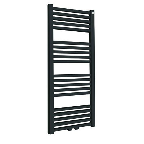 Designradiator Tower 119x60cm 732 Watt Mat Antraciet Middenonderaansluiting