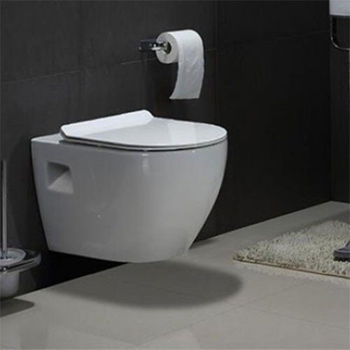 Wandcloset - Hangend toilet Daley Flatline - Inbouwtoilet WC Pot