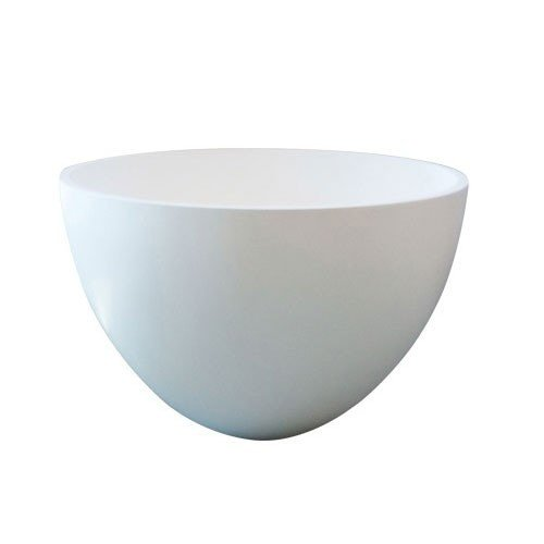 Waskom Opbouw Eco Rond 42x42x26cm Solid Surface Mat Wit