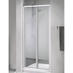 Douchedeur Sealskin Get Wet 110 Pendeldeur 90x190cm Wit Chinchilla Glas