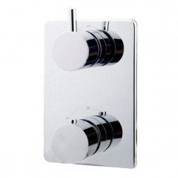 Douchekraan Caral Thermostatisch Inbouw Rond Chroom 2 Greeps
