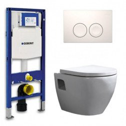 Geberit UP 100 Toiletset - Inbouw WC Hangtoilet Wandcloset - Daley Delta 21 Wit