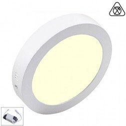 LED Paneel / Downlight Set 12w 3000k Warm Wit Rond Opbouw Slim Spatwaterdicht