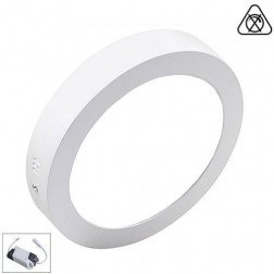 LED Paneel / Downlight Set 12w 6000k Helder Wit Rond Opbouw Slim Spatwaterdicht