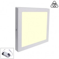 Led Paneel / Downlight 12w 3000k Vierkant Opbouw Spatwaterdicht