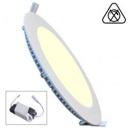 Led Paneel / Downlight 18w 3000k Spatwaterdicht