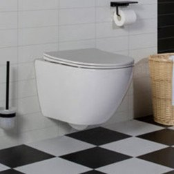 Wandcloset - Hangend toilet Shorty Flatline - Inbouwtoilet WC Pot 1