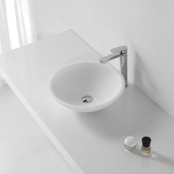 Solid Surface Waskom Rond - Liron Mat Wit