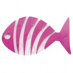 Stickers Differnz Antislip Stripe Fish PVC Roze 6 Stuks