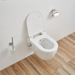 Wandcloset - Hangend Toilet Easy Flush Slim met Bidet